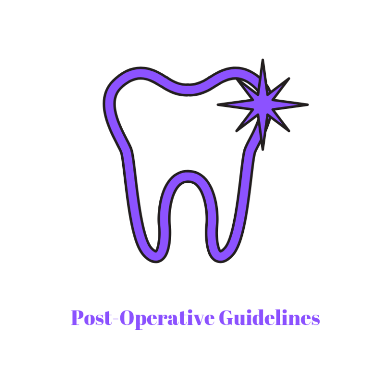 tooth with post operative guidelines as text